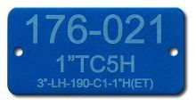 LASER ETCHED COLORED ALUMINUM TAGS