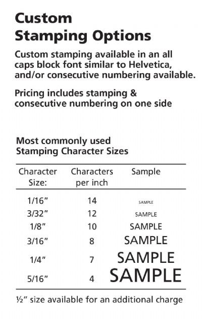 STAMPED RECTANGLE TAGS