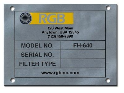 STAINLESS CHEMICAL ETCHED NAMEPLATES
