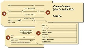 CREMATION CARD STOCK TAGS