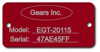 LASER ETCHED COLORED ALUMINUM RECTANGLE TAGS