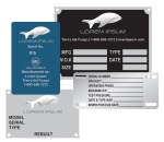 NAMEPLATES -  EQUIPMENT PLATES
