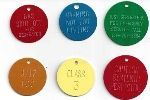 COLORED ALUMINUM ROUND STAMPED TAGS