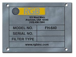 CHEMICAL ETCHED NAMEPLATE