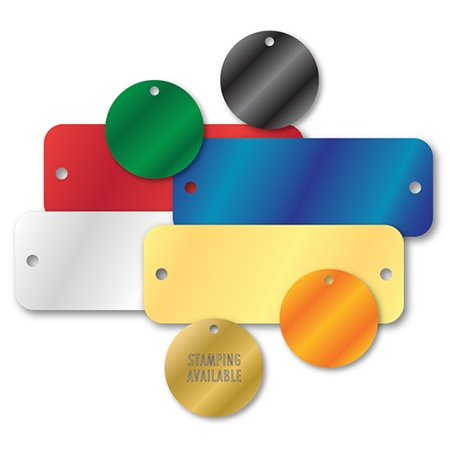 COLORED ALUMINUM TAGS