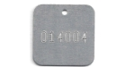 STAMPED SQUARE ALUMINUM VALVE TAGS 1 1/4 inch OR SMALLER