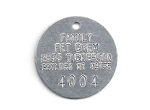 CREMATORY TAGS ALUMINUM 1.5 INCH