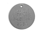 CREMATORY TAGS STAINLESS 1.5 INCH