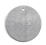 STAMPED ROUND ALUMINUM VALVE TAGS  2 inch