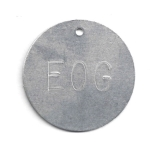 Custom Metal Tags 2 Round Aluminum