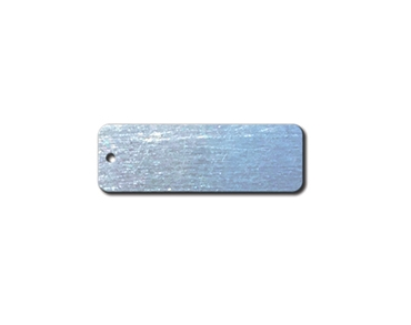 ALUMINUM BLANK METAL TAGS 1 X 3  1 HOLE