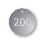 PRE-NUMBERED 1.5 INCH STAINLESS TAGS 1-200