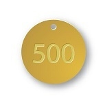 PRE-NUMBERED 1.25 INCH BRASS TAGS sets of 500