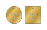 STAMPED ROUND BRASS VALVE TAGS  1 1/4 inch or smaller