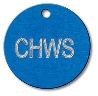 Engraved Round Tags 1 inch Aluminum