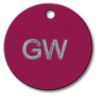 Engraved Aluminum Tags 1.50 inch Round