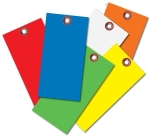 Blank Colored Tyvek Tags No 8  1/4 Eyelet 100/pk
