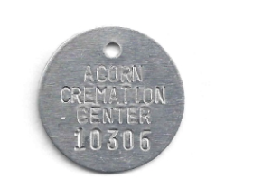 CREMATORY TAGS ALUMINUM 1.25 INCH