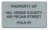 FIBER MARKED ALUMINUM NAMEPLATE 2 X 4