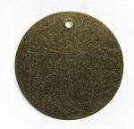 Valve Tags Round Brass 3 inch