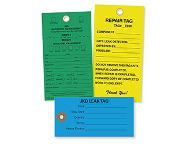 Leak Detection Cardstock Tag No 8 size