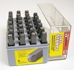 STAMPING SET LETTERS 1/2 HEAVY DUTY