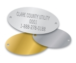CUSTOM STAMPED ALUMINUM OVAL TAGS