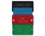STAMPED COLORED ALUMINUM RECTANGLE TAGS 1.5 x 3