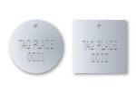 STAMPED ROUND STAINLESS VALVE TAGS 1 1/4 inch or smaller