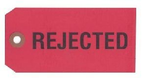 REJECTED MANILA TAG
