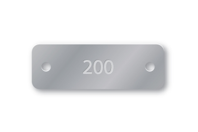 PRE-NUMBERED 1X3 ALUMINUM TAGS 1-200