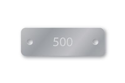 PRE-NUMBERED 1X3 ALUMINUM TAGS 1-500
