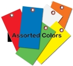 Blank Tyvek Tags Assorted Colors  No. 8 Size  1/4 eyelet