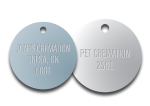 STAMPED ROUND ALUMINUM VALVE TAGS  1 1/4 inch or smaller