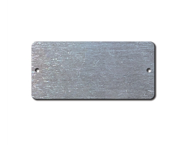 ALUMINUM BLANK METAL TAGS 1.5 X 3