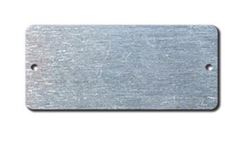 ALUMINUM BLANK METAL TAGS 1 7/8 X 4