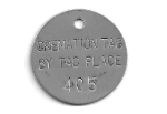 CREMATORY TAGS STAINLESS 1.25 INCH