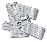 Imprinted 3 x 5 Write-On Tag