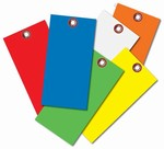 Blank Colored Tyvek Tags No. 8  3/8 eyelet