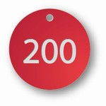 PRE NUMBERED RED ALUMINUM 1 to 200