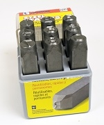 STAMPING SET NUMBERS 3/8 INCH HEAVY DUTY