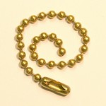 BEADED BALL CHAINS 4 BRASS PLATED