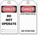 Lockout Tags -  Danger Do Not Operate Cardstock