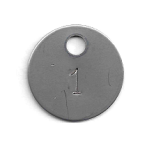 PRE-NUMBERED 1.25 INCH STAINLESS TAGS LARGE HOLE